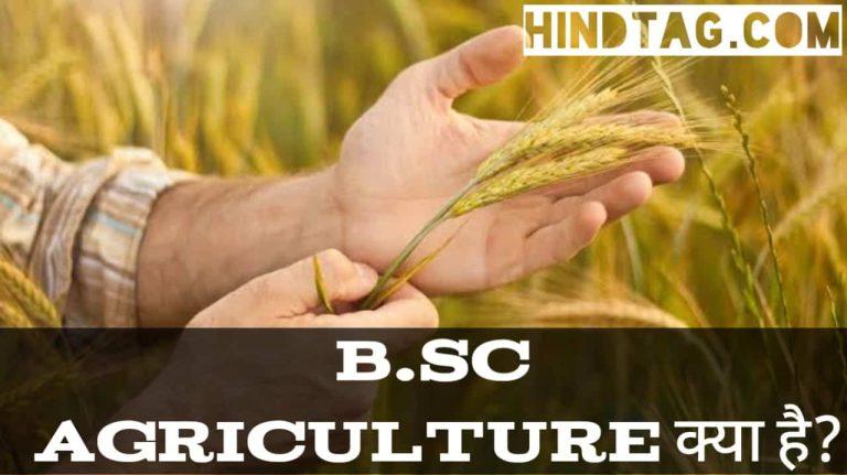 B.Sc. agriculture